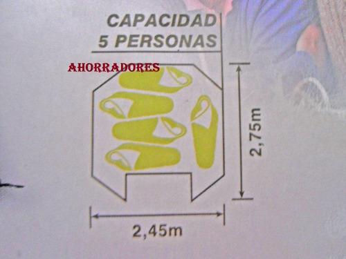 casa de campaña deportiva octagonal 5 personas wenzel mesa