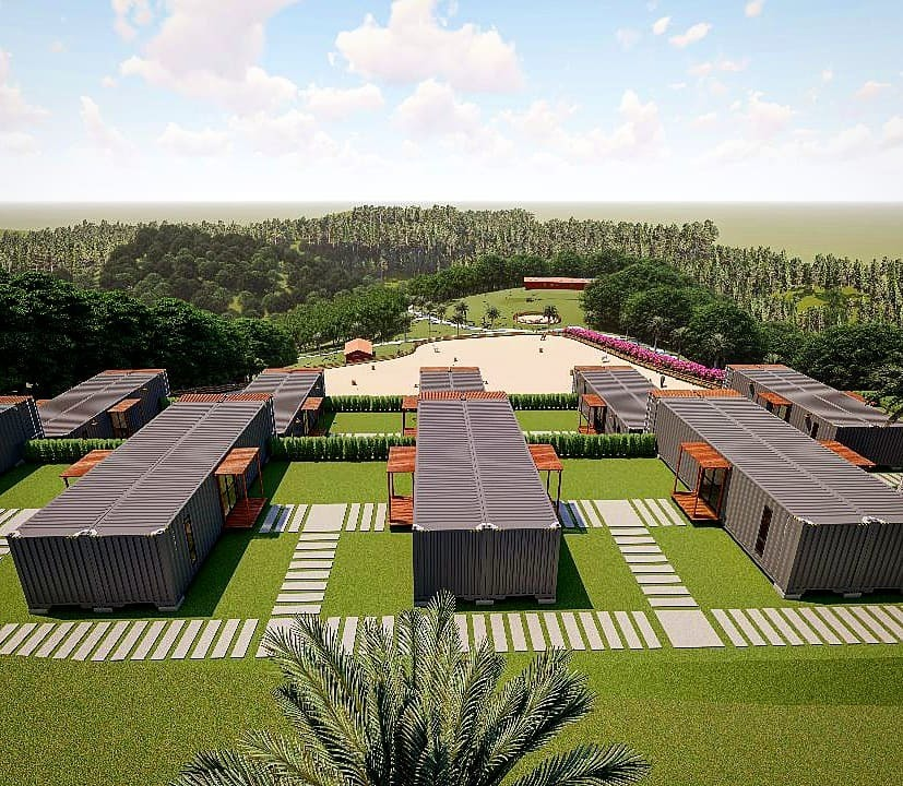casa de campo sustentável 2 dorms dentro de condomínio