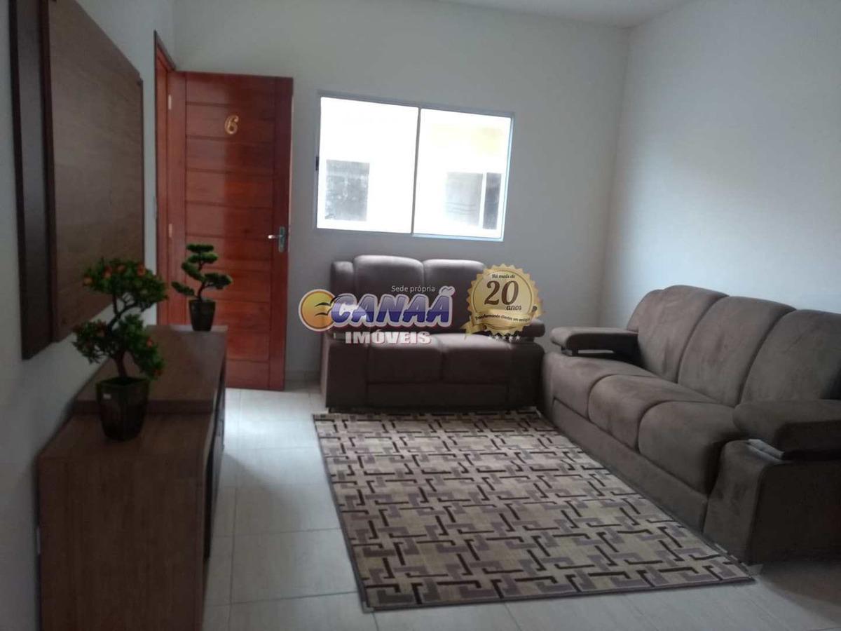 casa de condomínio com 2 dorms, gaivotas, itanhaém - r$ 150 mil, cod: 6815 - v6815