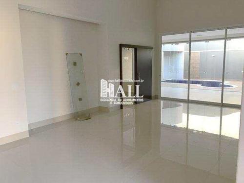 casa de condomínio com 3 dorms, condomínio golden park residence, mirassol - r$ 1.197.000,00, 256m² - codigo: 3636 - v3636