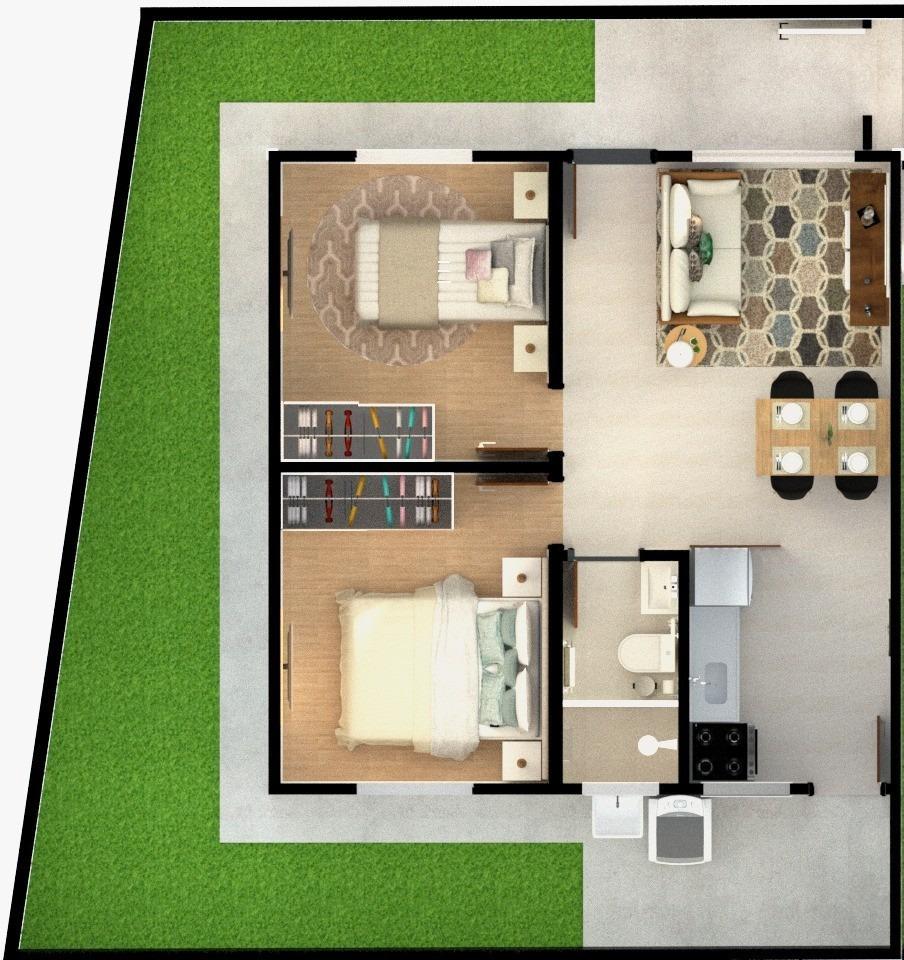 casa de condomínio à venda, 44 m² por r$ 158.000 - vila são