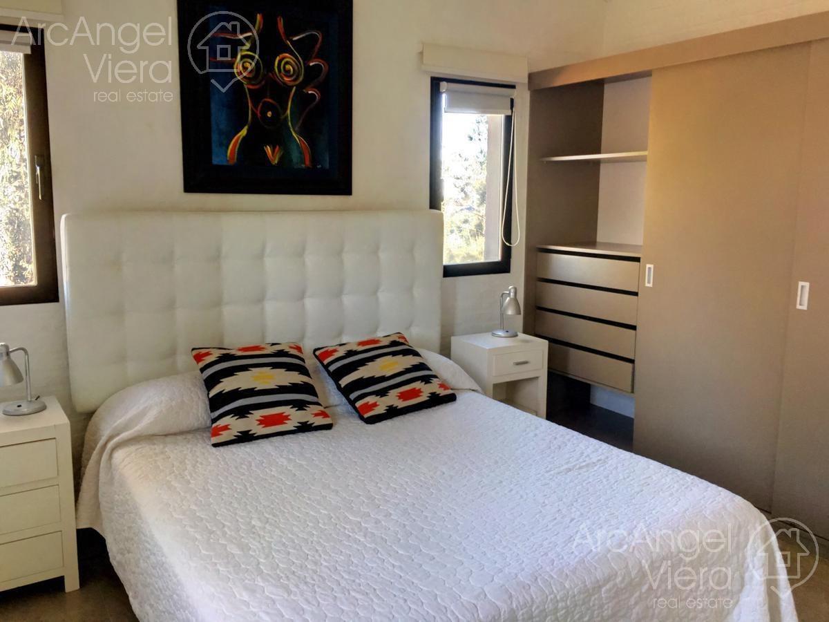 casa de dos dormitorios en alquiler  en   barrio privado, pinares