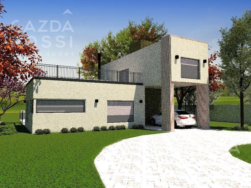 casa de estilo moderno en construcción en barrio privado la alameda,