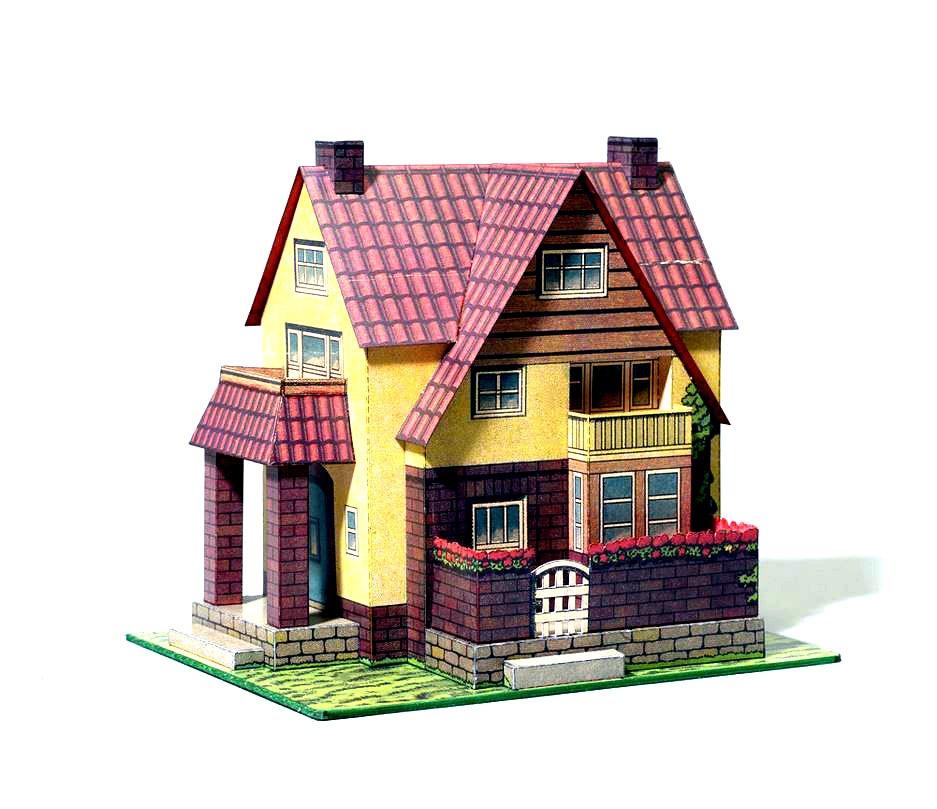 Casa De Familia 1920 Em Papel Para Imprimir E Montar R 9 90 Em