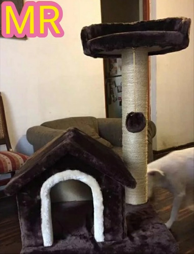 casa de gato rascador 2 niveles