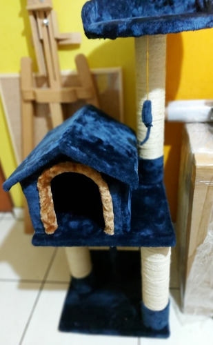 casa de gatos 3 niveles rascador