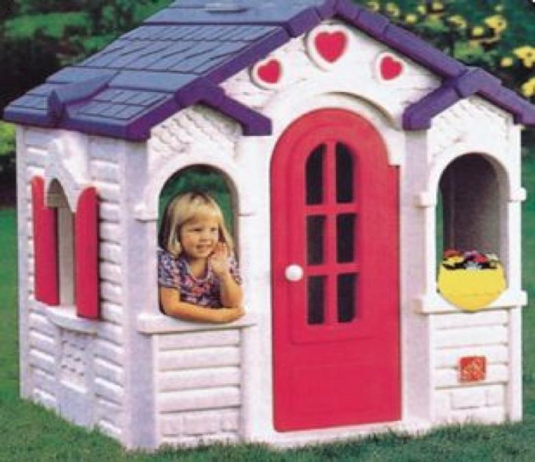 Casa de juegos mu ecas princesa juguet n en for Casas plasticas para ninos