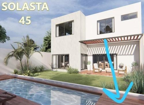 casa de lujo solasta 45 con 3 habitaciones y piscina en temozón norte, mérida.