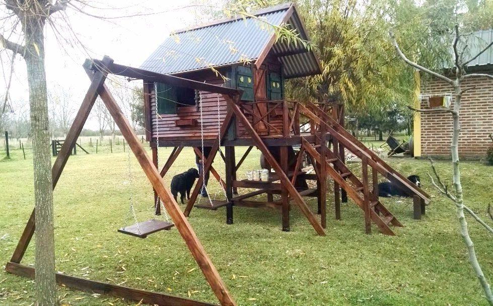 Casa De Madera Grande Con Juegos Infantiles 4133000 En Mercado - Casa-de-juegos-infantiles