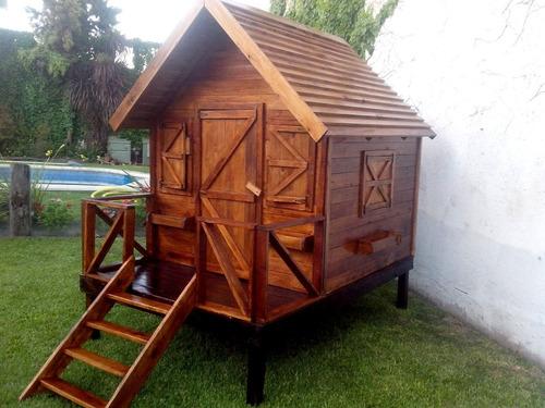 casa de madera para chicos (cuadrada).