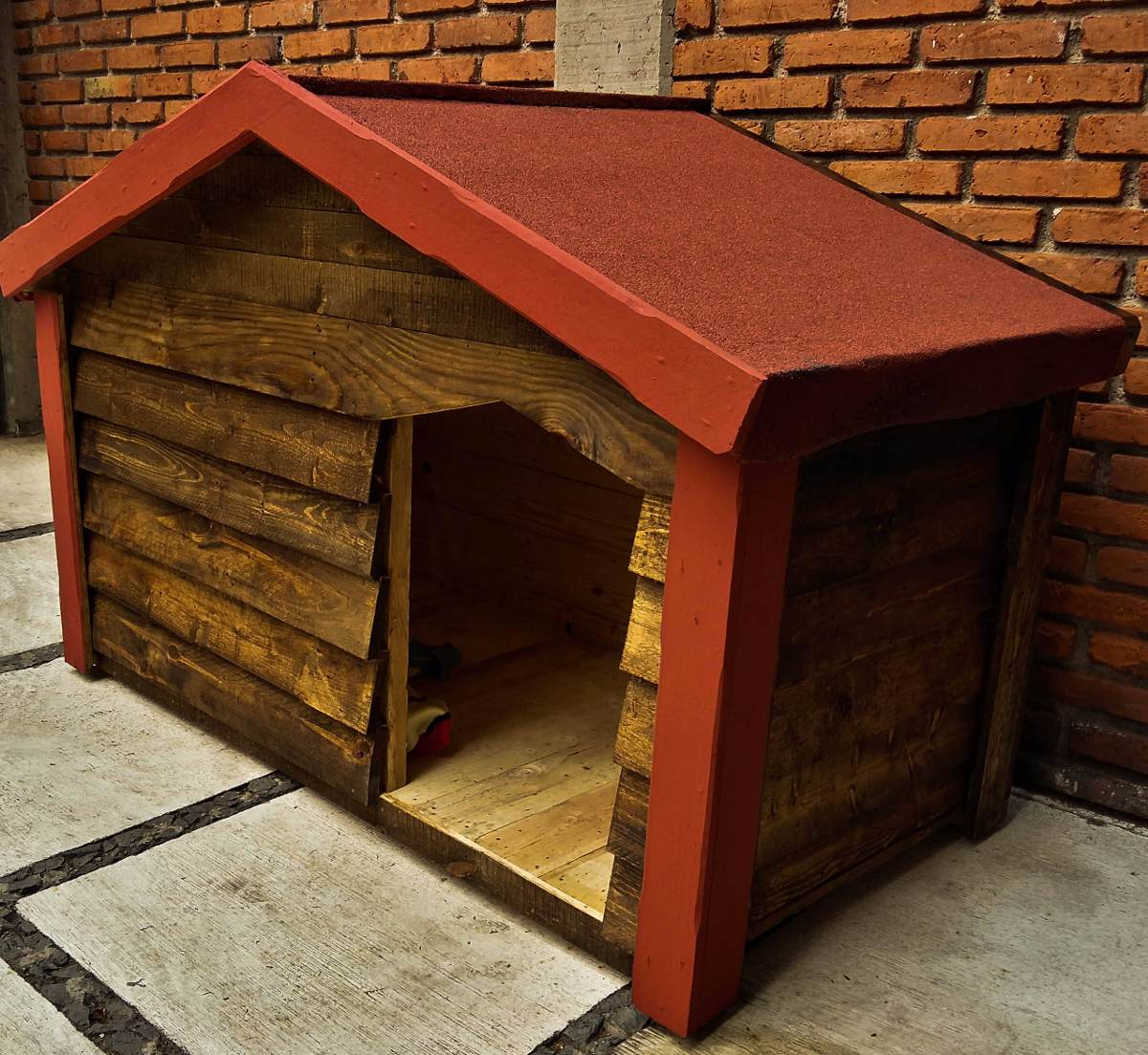 Casa de madera para perro extra grande 3 en Casas para perros de madera