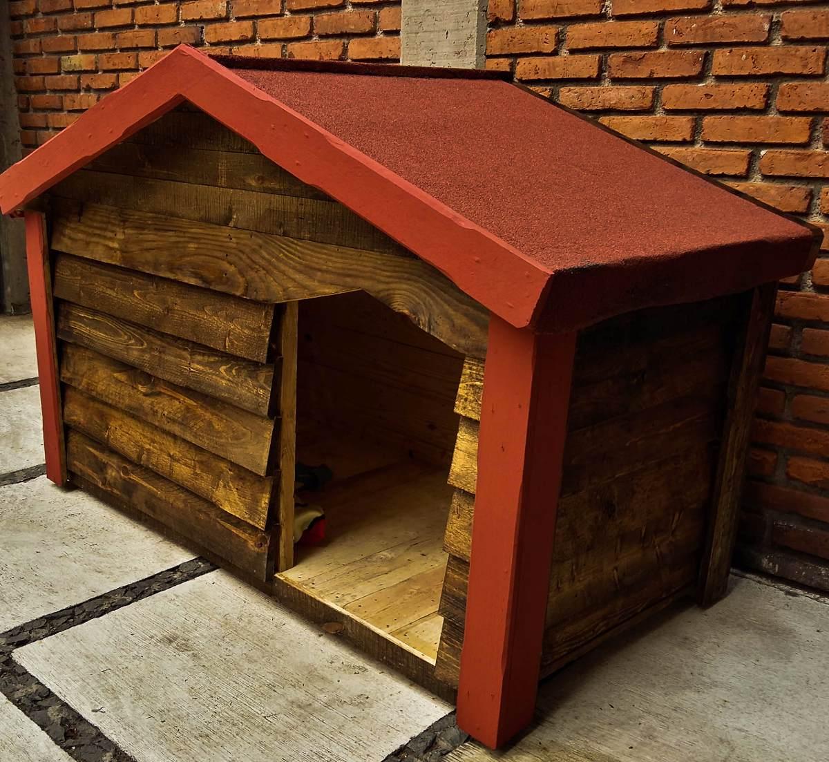Casa De Madera Para Perro Extra Grande (dogo) - $ 3,100.00 en ...
