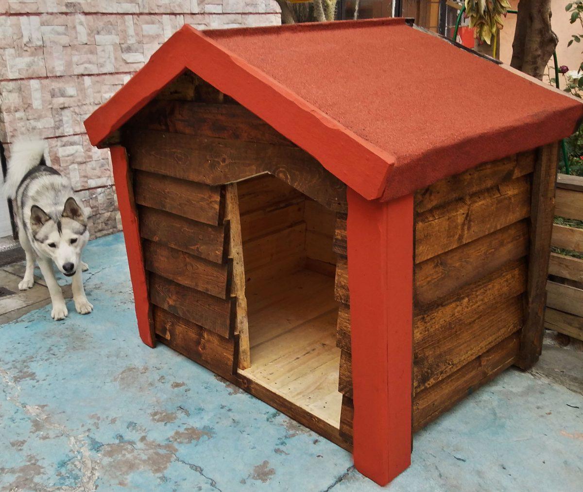 Casa de madera para perro grande impermeabilizada - Casa de perro grande ...