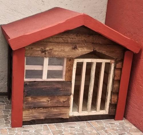 casa de madera para perro grande impermeabilizada (dogo)