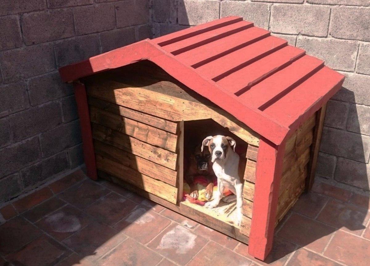 Casa de madera para perro grande impermeabilizante for Construir piscina para perros