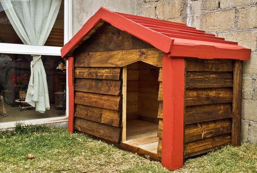 Casa De Madera Para Perro Grande Impermeabilizante Dogo