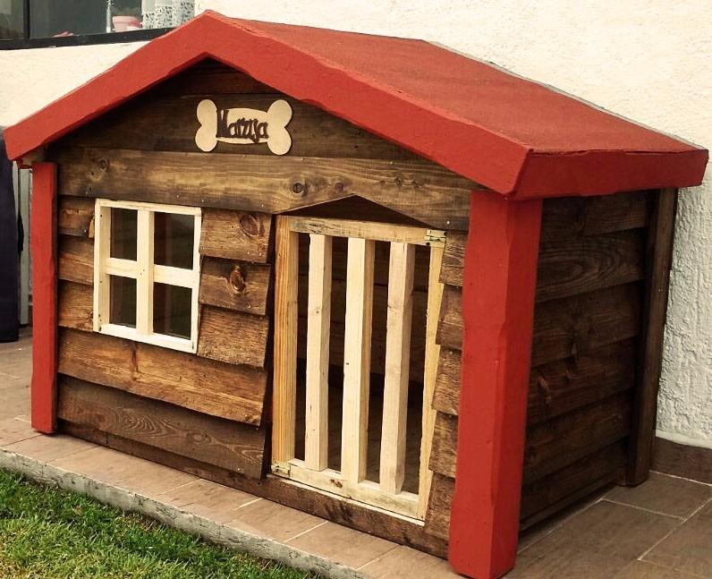 Casa de madera para perro grande impermeabilizante dogo for Casas para perros