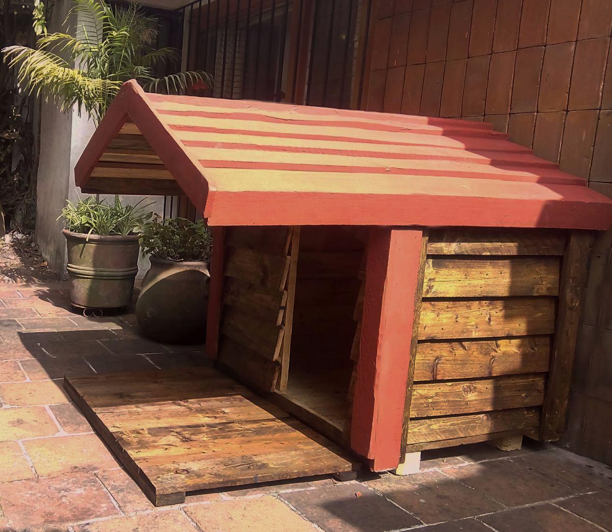 Casa de madera para perro terraza impermeabilizada dogo - Casa de perro grande ...