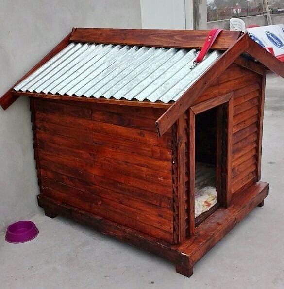 Casa De Madera Para Perros Razas Grandes - $ 3.490,00 en Mercado Libre