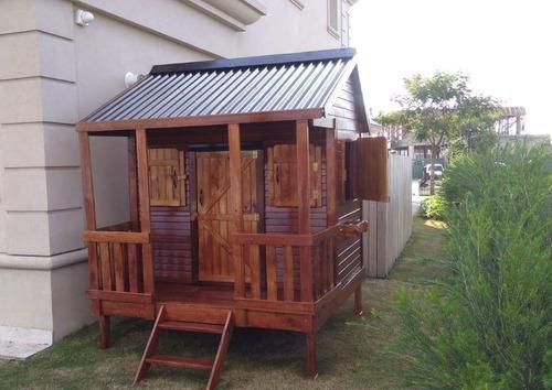 casa de madera tipo lola para chicos