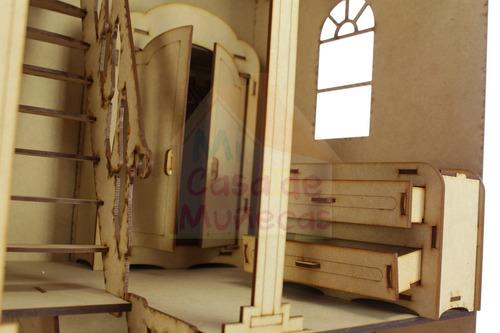 casa de muñecas barbie 3 pisos con muebles y envio incluidos