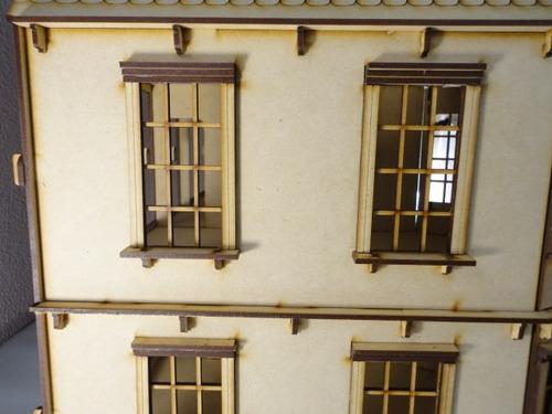 casa de muñecas bostoniana rompecabezas 3d hecha madera mdf