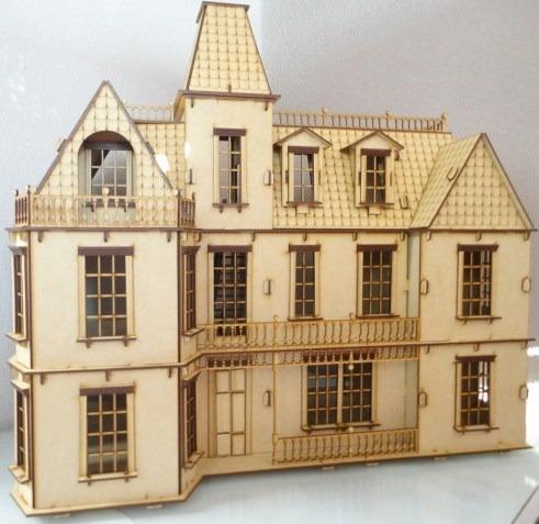 Casa de mu ecas bostoniana rompecabezas 3d hecha madera for Planos de muebles gratis en espanol