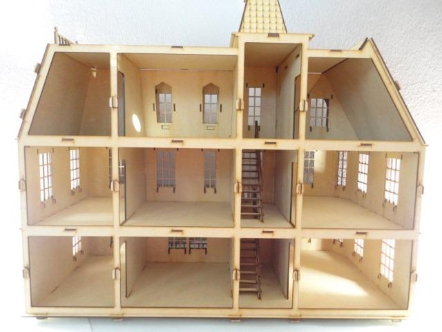 Casa de mu ecas bostoniana rompecabezas 3d hecha madera - Como hacer muebles para casa de munecas ...