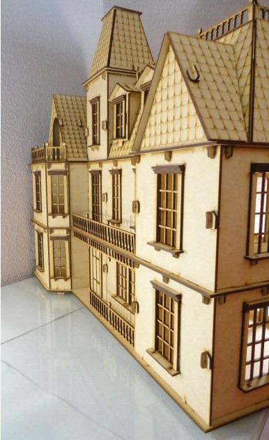 Casa de mu ecas bostoniana rompecabezas 3d hecha madera mdf en mercado libre - Casa de munecas teatro ...