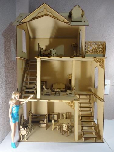 Casa de mu ecas california kit 23 muebles madera mdf for Armar muebles de mdf