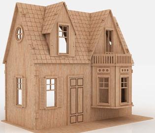 casa de muñecas casa de mdf rompecabezas 3d gmcm012