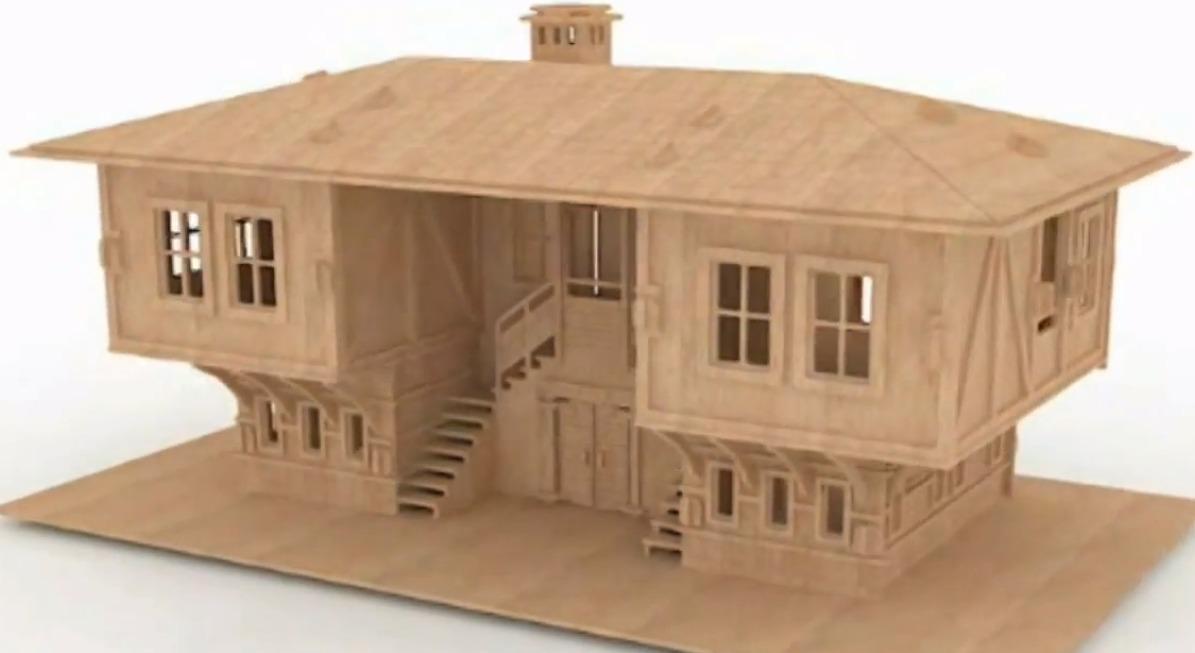 Casa de mu ecas casa de mdf rompecabezas 3d gmcm014 - Casa de munecas eurekakids ...