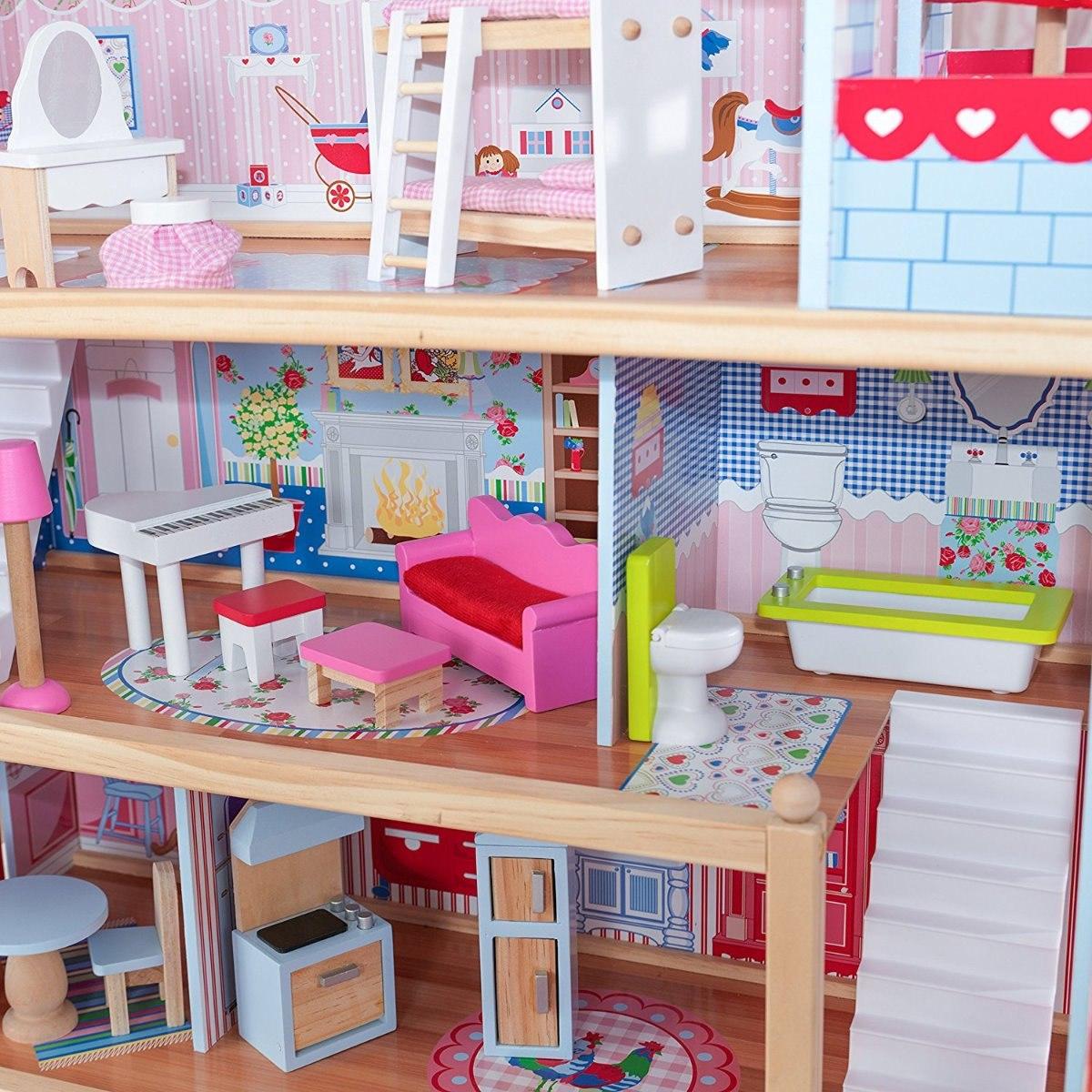Casa De Mu Ecas Chelsea Kidkraft Con Muebles Casita Mu Ecas  # Muebles Nogales Sonora
