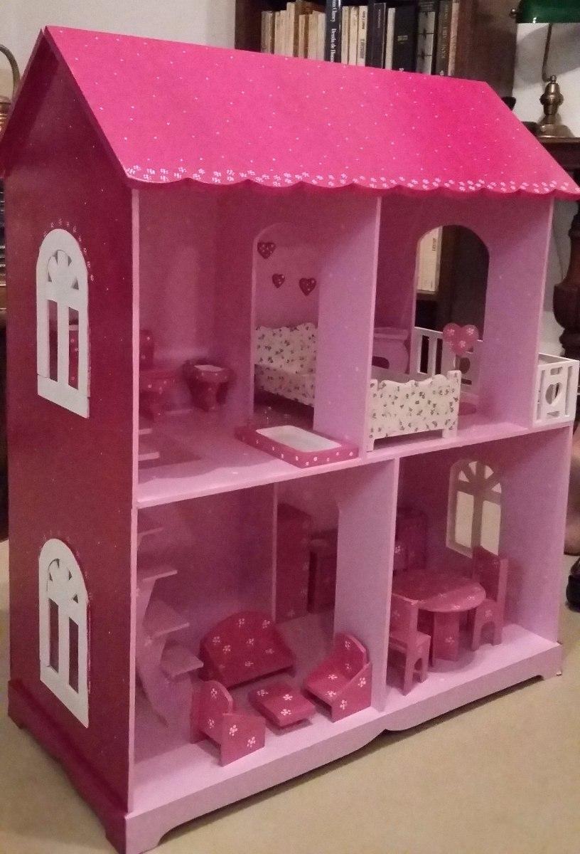 Casa De Munecas Con Muebles Para Barbies Envios Gratis 3 995