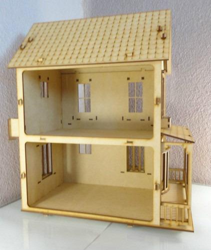 Casa de mu ecas cristina hecha en madera mdf rompecabezas 3d en mercado libre - Casa de munecas you and me ...