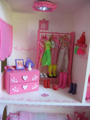 casa de muñecas estilo castillo con luz, y comiditas!!