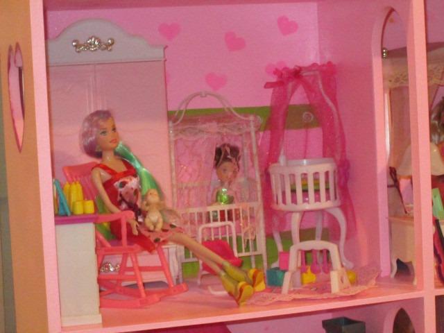 Casa de mu ecas ideal para tu barbie s 500 00 en mercado libre - Munecos para casa de munecas ...