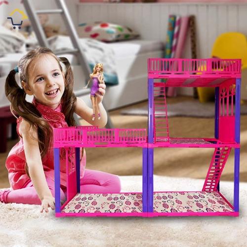 casa de muñecas infantil  armable sencillo rf 160