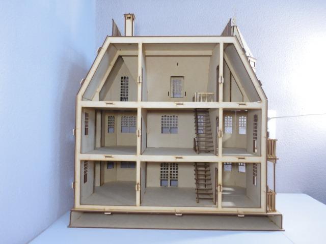 Casa de mu ecas laurel hecha en madera mdf rompecabezas 3d en mercado libre - Casa de munecas you and me ...