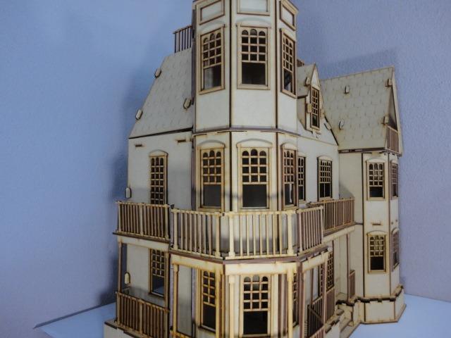 Casa de mu ecas laurel hecha en madera mdf rompecabezas - Casa de munecas teatro ...