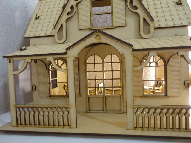 Casa De Muñecas Marie, Hecho En Madera Mdf, Rompecabezas 3d  $ 200
