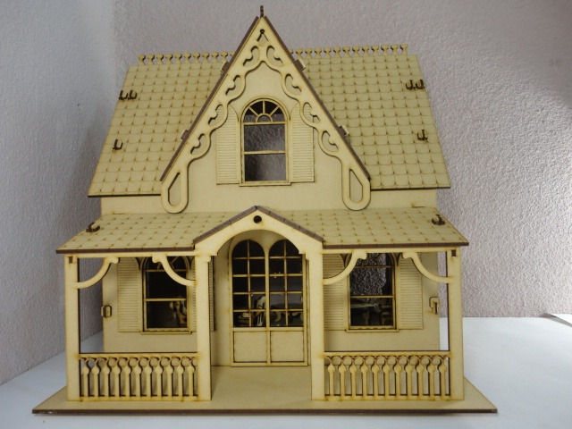 Casa de mu ecas marie hecho en madera mdf rompecabezas - Casa de munecas teatro ...