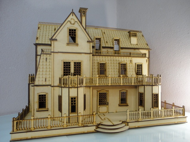Casa de mu ecas villa gotica en madera mdf rompecabezas 3d for Casa revival gotica