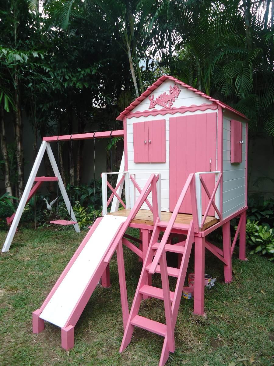 Casa de ni a mu ecas en madera para jardines tipo parque for Para desarrollar un parque ajardinado