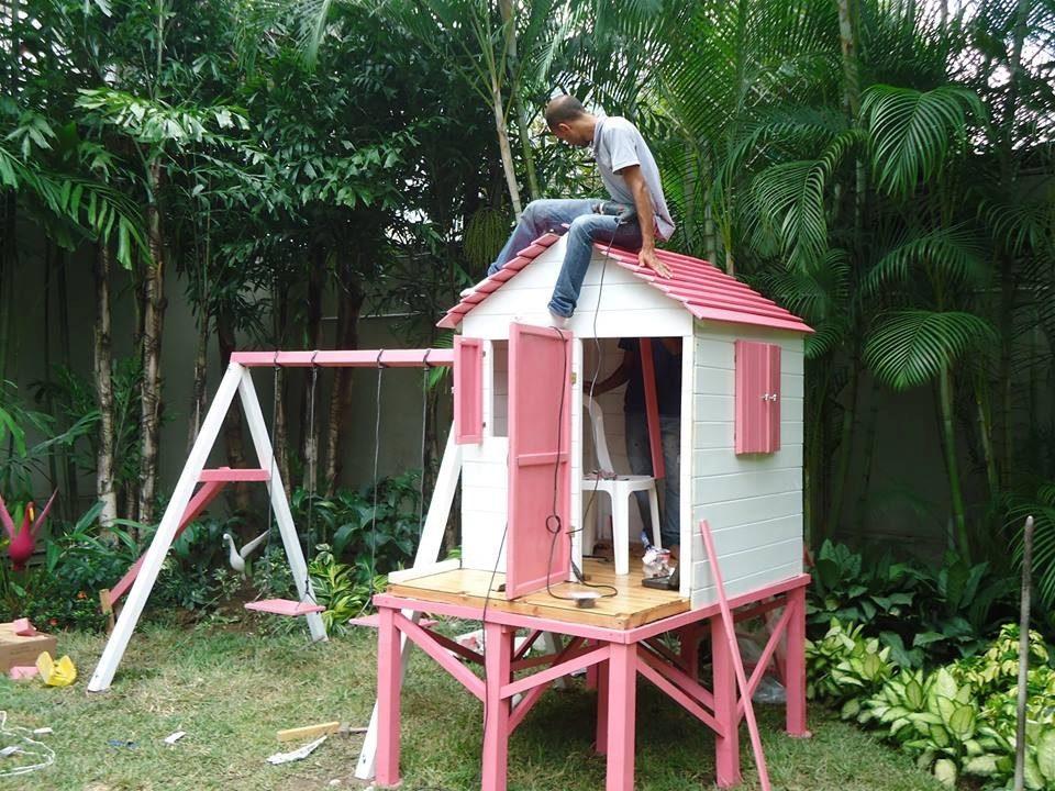 Casa de ni a mu ecas en madera para jardines tipo parque - Casa de madera jardin ...