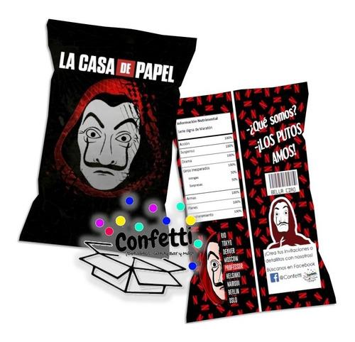 casa de papel chipbags (bolsa de papitas) para regalo