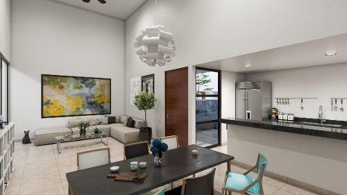 casa de una planta en venta en merida. privada otavia modelo 158