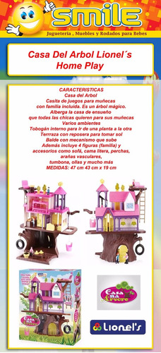 casa del arbol casita muñeca gigante home play lionels smile