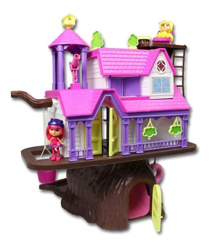 casa del arbol con muñecos xplast orig lionels mundo manias