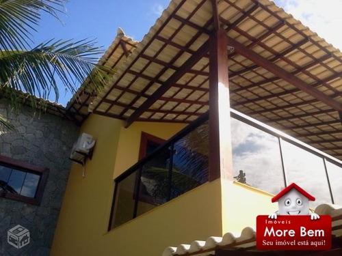 casa duplex, alto padrão, frente para lagoa de araruama.  - cs-341